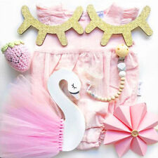 Wooden Swan Skirt Decoration Infants Babies Kids' Room Home Bedroom Ornament