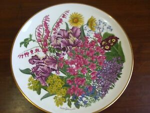 May RHS Flowers of the Year Wedgwood Plate 27cm Plaque for Franklin Mint