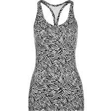 Nike Get Fit Veneer Tank Top (X Small, Black& White)