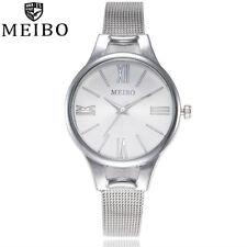 New Luxury Stainless Steel Ladies Womens Girl Quartz Analog Wrist Watch Watches