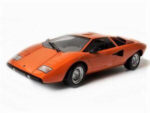 1:12 Kyosho Lamborghini Countach LP400 in Orange 08611P Diecast Model