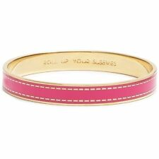 Kate Spade Roll Up Your Sleeves Bangle Bracelet NWT Beautiful Pink & Gold