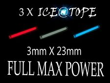 Betalight isotopes 3 x ice rsf ICE@TOPE pêche à la carpe 3mm x 23mm full max power