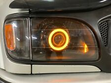 2001-2004 toyota tacoma retrofit projector Prebuilt headlight RGB Angel eye Halo