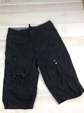 Sean John Boy's Cargo Shorts Size 14 Black Drawstring Waist E19