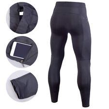 Para hombre de compresión Capa Base Térmico Leggings Pantalones Ajustados Largos que ejecutan Secado Rápido