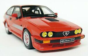 Otto 1/18 Alfa Romeo GTV6 Production Rouge Résine Fonte Maquette Voiture