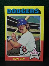 Topps 1975 Mini Card # 390 Ron Cey Dodger Great ( The Penguin ) In VG Condition
