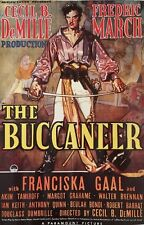 """THE BUCCANEER Movie Poster. Cecil B. DeMille. 20"""" X 28"""""""