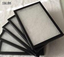 "#150 (24) Riker Mount Display Case Shadow Box Frame Tray  12"" X 8"" X 3/4"""
