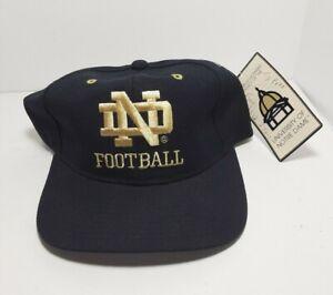 Vintage Champion 90s Notre Dame Football Snapback Hat Cap OS Wool Blend