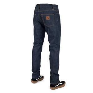 Carhartt WIP Klondike Pant rigid blue enge tapered Cut Raw Denim Hose Herren