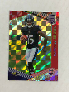 MARQUISE BROWN 2019 Elite RED XFRACTOR SP RC /299! #105! RAVENS! CHECK MY ITEMS!