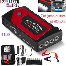 69800mah Led Car Jump Start Starter 4 Usb Charger Battery Power Bank Booster Usa