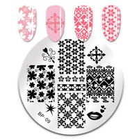 Nagel Schablone BORN PRETTY 09 Nail Art Stamp Stamping Template Plates