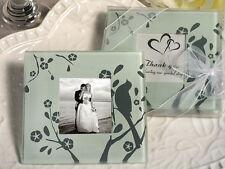 200 Love Bird Silver Photo Coaster Bridal Wedding Favor 100 Sets of 2