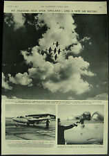 RAF New Air Speed Record Hawker Sea Hawk Jet Fighter & Meteor 1954 Page Article