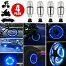 4x LED Dragonfly Car Wheel Tyre Decor Bulb Light Tire Air Valve Stem Cap Lamp