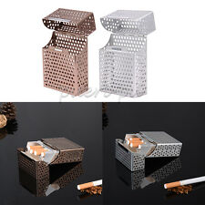 NEW Aluminum Metal Cigar Cigarette Box Holder Pocket Hollow Storage Case