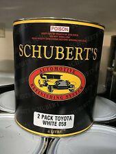 Schuberts 4LT Toyota 058 White 2K Pre-Mixed, Automotive Paint. Ratio 2:1