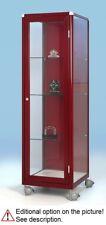 Glasvitrine,Standvitrine H165x50x50 F-5.5 Rollen(rote Farbe - zum Beispiel)