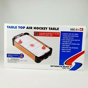Sportcraft Table Top Air Hockey Table 15.98 x 8.66 x 2.76 Inch Tested*