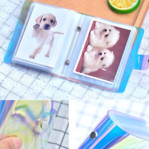 """Card Bag Wallet Holder Photo Album Pocket Storage Memo Book 3x2.5"""" 36Sheets"""