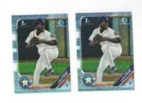 CHRISTIAN JAVIER 2019 1st Bowman Chrome MOJO RC lot of 2 Cards HOT PLAYOFFS