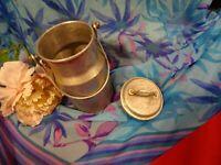 lot=ançien  ans 3o/50,  pot à lait fer blanc, décor cuisine ,collector