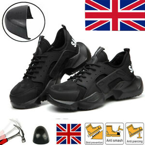 Mens Safety Shoes Work Trainers Steel Toe Cap Lightweight Hiking boots UK Size