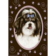 Paws House Flag - Brown and White Shih Tzu 17175