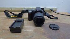 Nikon D D40 6.1MP Digital SLR Camera - Black (Kit W/AF-S DX SWM G II ED Aspheric