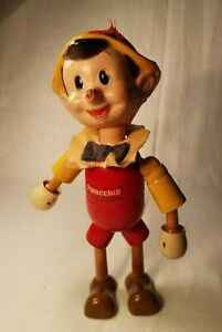 Walt Disney Pinocchio Doll with Movable Joints wooden 1930's Ideal toy rare