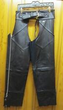 Harley Davidson Genuine Leather Womens Motorcycle Chaps Womens Medium W/M