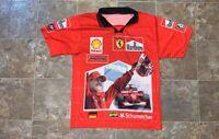 "Vintage Michael Schumacher Ferrari Marlboro/Bridgestone/Shell ""Racing"" Jersey"