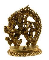 Estatua Tibetano Vajrapani Dragon Protector Del Buda 98mm Cobre Nepal 25652