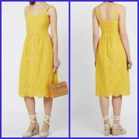 New Look Ladies Yellow Cotton Summer Holiday Dress Size 6 - 16