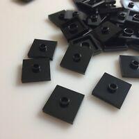 20 X  lego 2x2 Brick with top knob Black 4565323