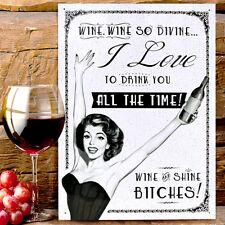 Rude Humour Womens Wine Art Metal Wall Sign Kitchen Plaque Gift 40*30CM 50077