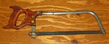 "Antique 1800s Harvey W. Peace Vulcan Saw Works Hand Hacksaw Meat/Bone Saw 17.5"""