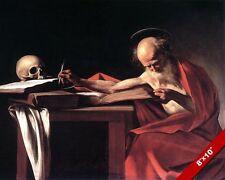 SAINT ST JEROME PAINTING CATHOLIC CHRISTIAN DOCTOR HISTORY ART REAL CANVAS PRINT