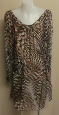 Forever New Animal Printed Chiffon Dress with Belt Size 12