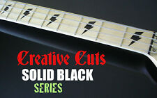 Lightning Bolts BLACK Fretboard Marker Inlay Set Sticker Decals for G & L BASS