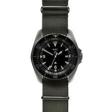 MWC 24 Jewels Automático 300m Acero 316L Negro Sub NATO Militar Hombre Reloj