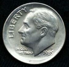 1985 P DIME 10C BROADSTRUCK MISS ALIGNED OFF CENTER ERROR Nice Coin E152
