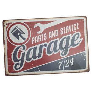 Metal Tin Sign Plaque Decor Bar Vintage Retro Garage Service Sign-Garage#16