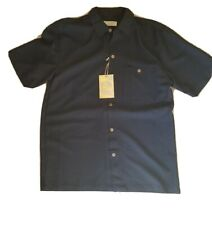 ISLAND REPUBLIC Camp Short Sleeve Shirt Black Size NEW