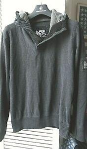 GREAT - SUPERDRY - HOODY - SWEATSHIRT - MENS SIZE - L - LARGE - 42 INCH CHEST