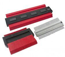3 Pc Contour Gauge Set Shape Profile Metal Tiles Tiling Carpet Wood Skirting Kit