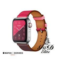 Series 4 Hermes Apple Watch ST 40mm Bordeaux/Rose Extrême/Rose Azalée Swift